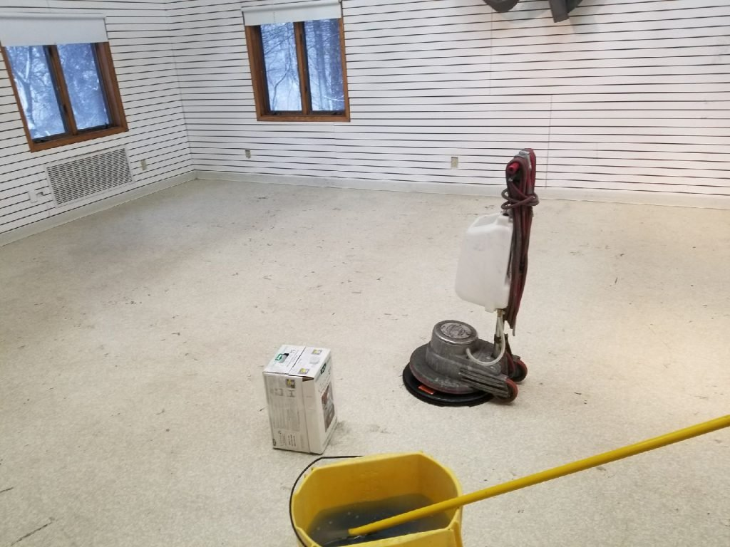 before picture of dirty floor MN Services Minnetonka, MN